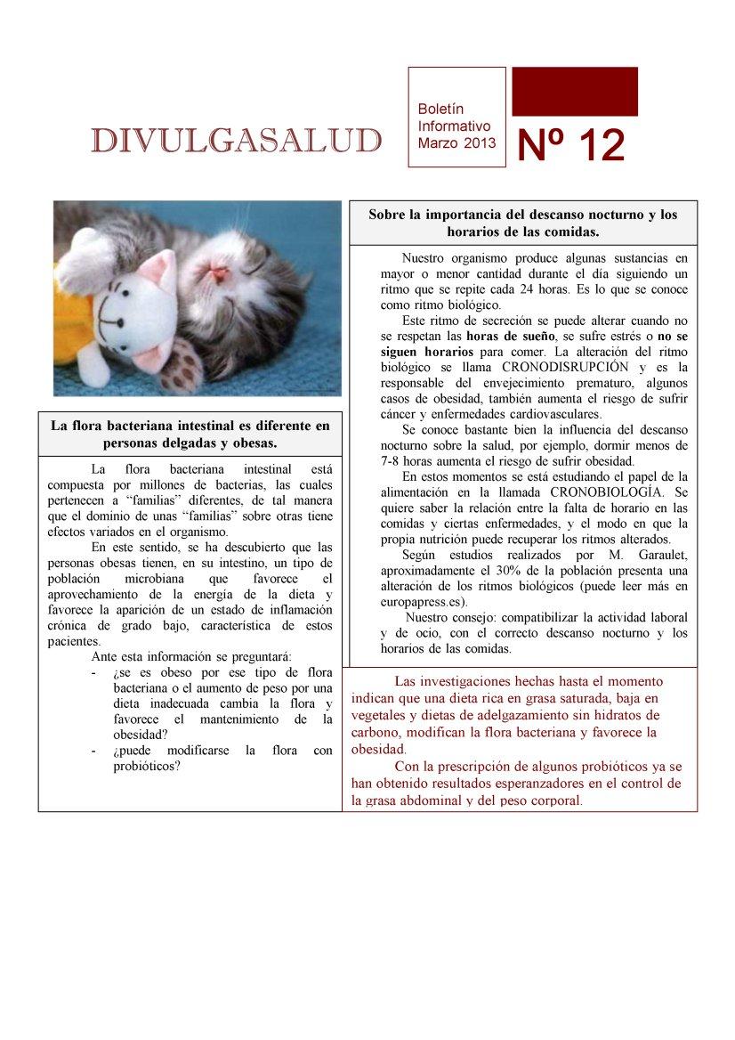 Boletin para Pacientes: DivulgaSalud 12